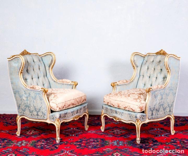 Antigüedades: Conjunto De Sofá y Sillones Antiguos Luis XV - Foto 7 - 245607945