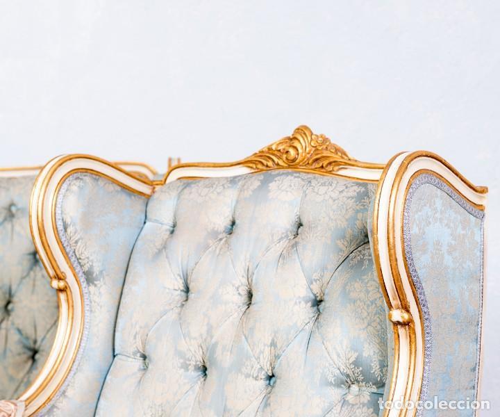 Antigüedades: Conjunto De Sofá y Sillones Antiguos Luis XV - Foto 11 - 245607945
