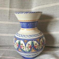 Antigüedades: ANTIGUO JARRÓN DE CERÁMICA PUENTE DEL ARZOBISPO. LA PURÍSIMA J.C.F.. Lote 245622490
