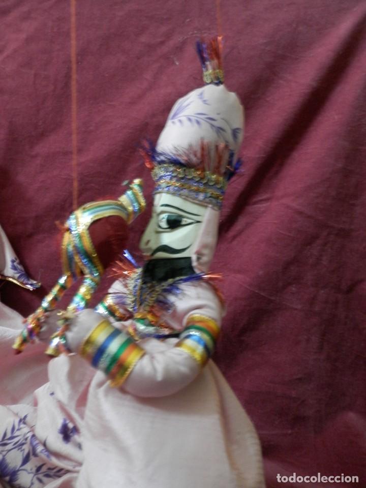 Antigüedades: PAJERA DE MARIONETAS DE LA INDIA RAJASTHAN KATHPUTLI DE MADERA POLICROMADA. MARIONETA MUÑECO COLGAR. - Foto 6 - 245762420