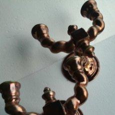 Antigüedades: APLIQUES PARED CERAMICA TRIANA REFLEJOS COBRE. Lote 245776270