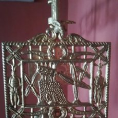 Antigüedades: QUINQUE VELON BRONCE LAMPARA ACEITE ANTIGUA SOBREMESA 103 CM.. Lote 245778825
