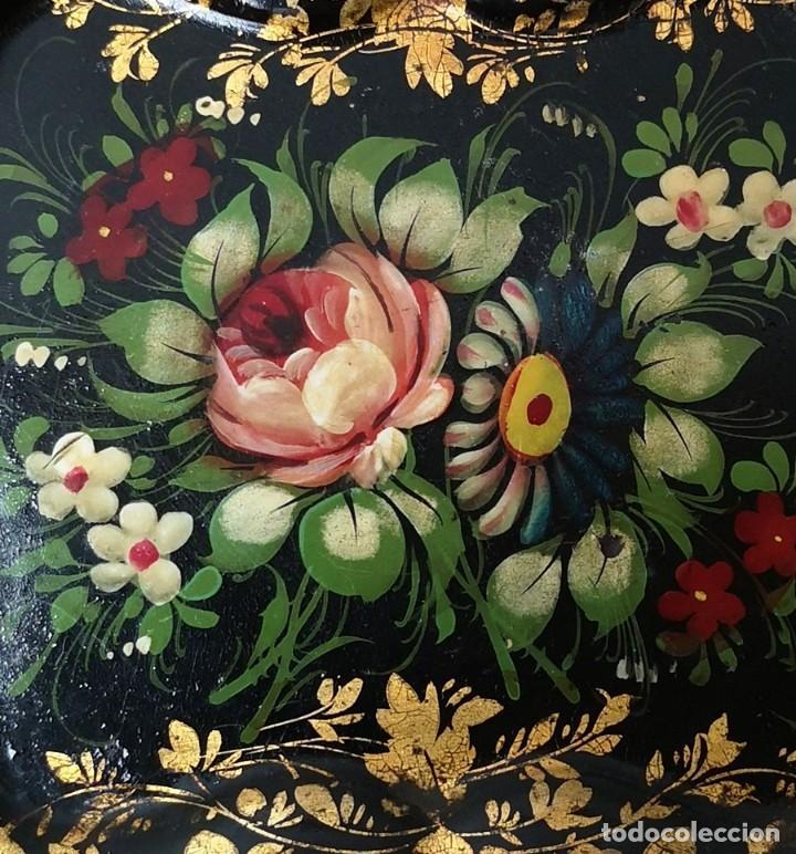 Antigüedades: Bandeja Flores - Foto 4 - 245785315