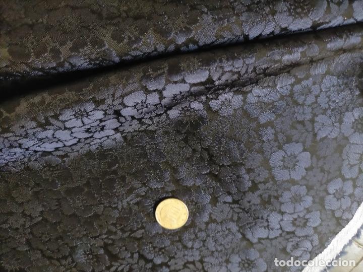 Antigüedades: 5 METROS X 125 ANCHO BROCADO MINI AZUL NOCHE FLORAL IDEAL VIRGEN SEMANA SANTA DIFUNTOS CONFECCIONES - Foto 5 - 245889745