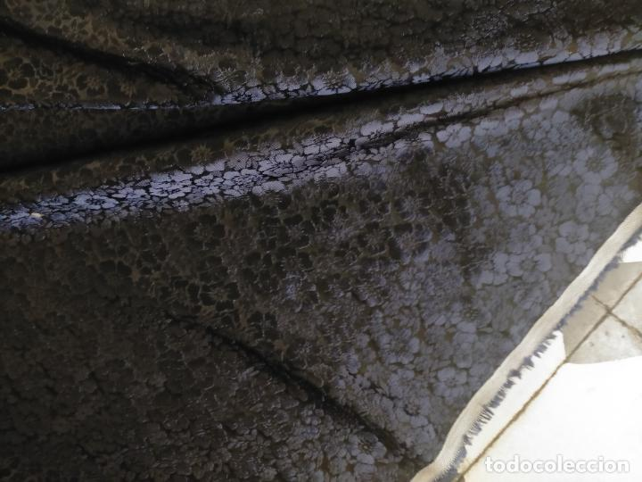 Antigüedades: 5 METROS X 125 ANCHO BROCADO MINI AZUL NOCHE FLORAL IDEAL VIRGEN SEMANA SANTA DIFUNTOS CONFECCIONES - Foto 14 - 245889745