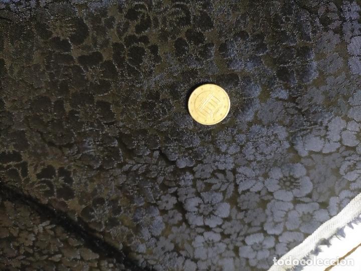 Antigüedades: 5 METROS X 125 ANCHO BROCADO MINI AZUL NOCHE FLORAL IDEAL VIRGEN SEMANA SANTA DIFUNTOS CONFECCIONES - Foto 15 - 245889745