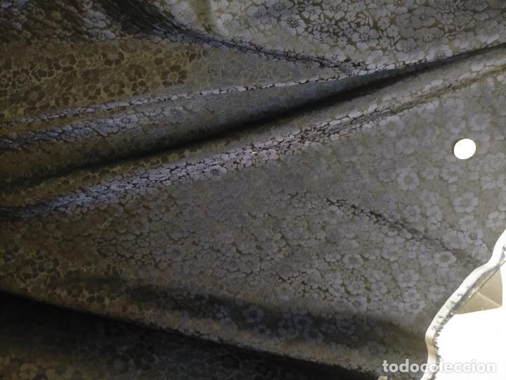 Antigüedades: 5 METROS X 125 ANCHO BROCADO MINI AZUL NOCHE FLORAL IDEAL VIRGEN SEMANA SANTA DIFUNTOS CONFECCIONES - Foto 18 - 245889745