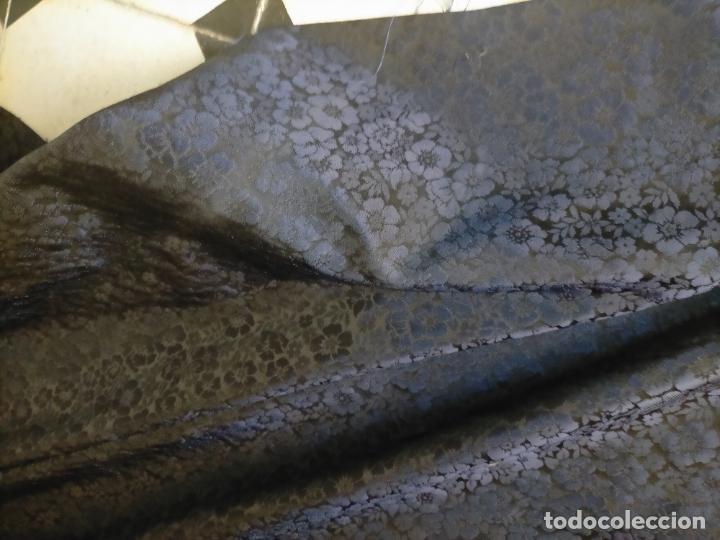Antigüedades: 5 METROS X 125 ANCHO BROCADO MINI AZUL NOCHE FLORAL IDEAL VIRGEN SEMANA SANTA DIFUNTOS CONFECCIONES - Foto 22 - 245889745