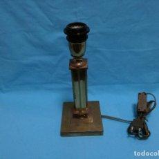 Antigüedades: ANTIGUA LAMPARA / LAMPARILLA DE SOBREMESA DE BRONCE / LATON (FUNCIONA). Lote 245907865