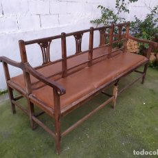 Antigüedades: BANCO DE DOBLE CARA. Lote 245913315