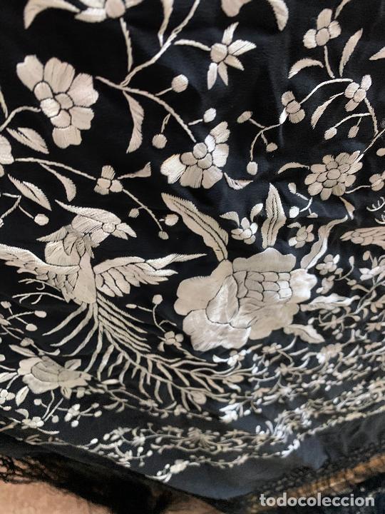 Antigüedades: Manton negro y plata - Foto 2 - 245925265