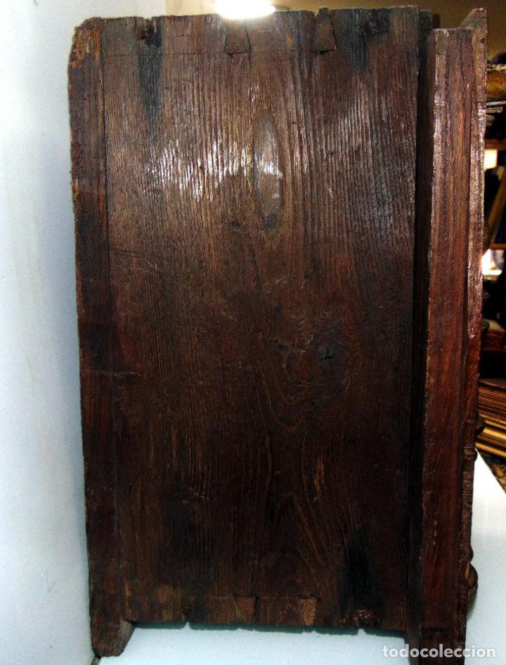 Antigüedades: Sagrario, hornacina, madera tallada y policromada al oleo, siglo XVII -XVIII, cordero eucaristico, - Foto 7 - 245929815