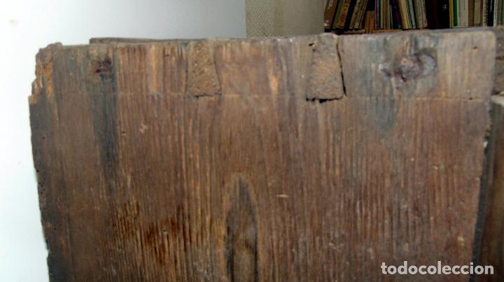 Antigüedades: Sagrario, hornacina, madera tallada y policromada al oleo, siglo XVII -XVIII, cordero eucaristico, - Foto 8 - 245929815
