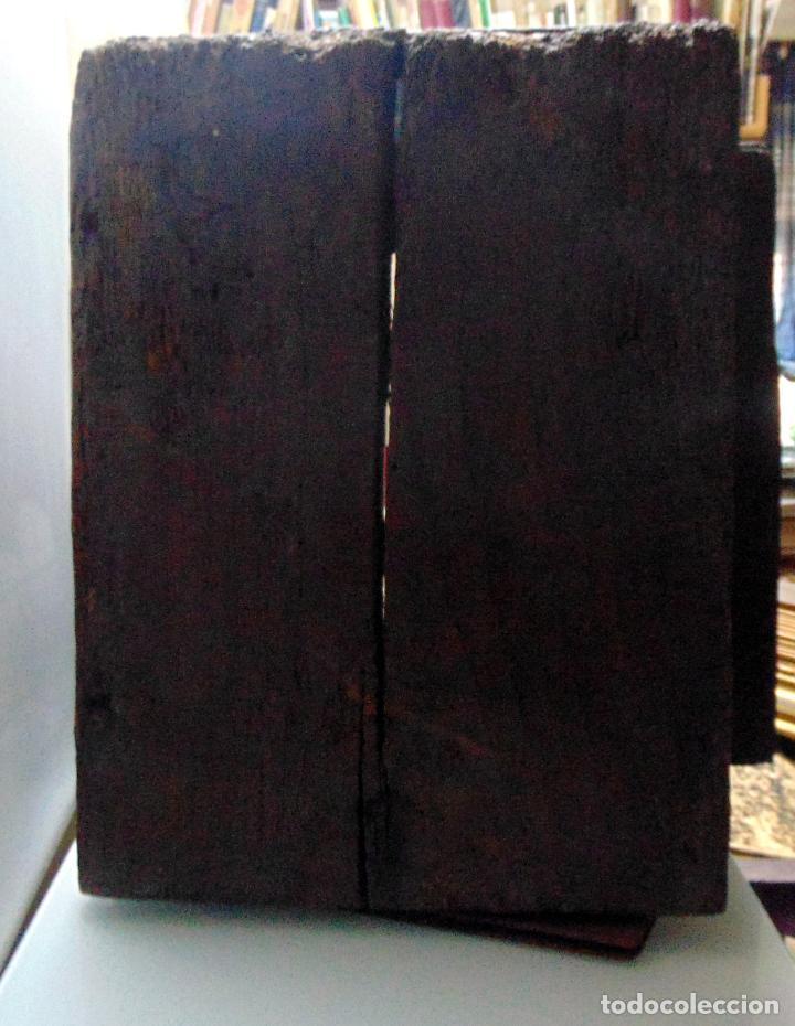 Antigüedades: Sagrario, hornacina, madera tallada y policromada al oleo, siglo XVII -XVIII, cordero eucaristico, - Foto 9 - 245929815