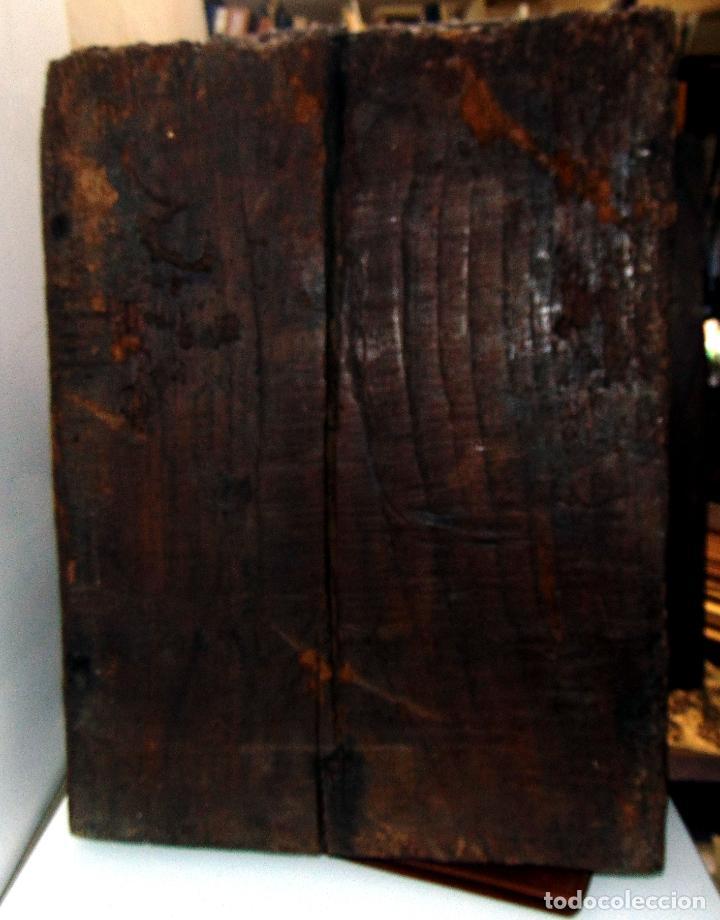 Antigüedades: Sagrario, hornacina, madera tallada y policromada al oleo, siglo XVII -XVIII, cordero eucaristico, - Foto 10 - 245929815
