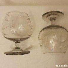 Antigüedades: JUEGO DE 2 COPAS LICOR. Lote 245941345