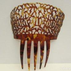 Antigüedades: PEINETA EN SIMIL CAREY ANTIGUA MEDIDA TOTAL 17,5X16,5 CM. Lote 245946820