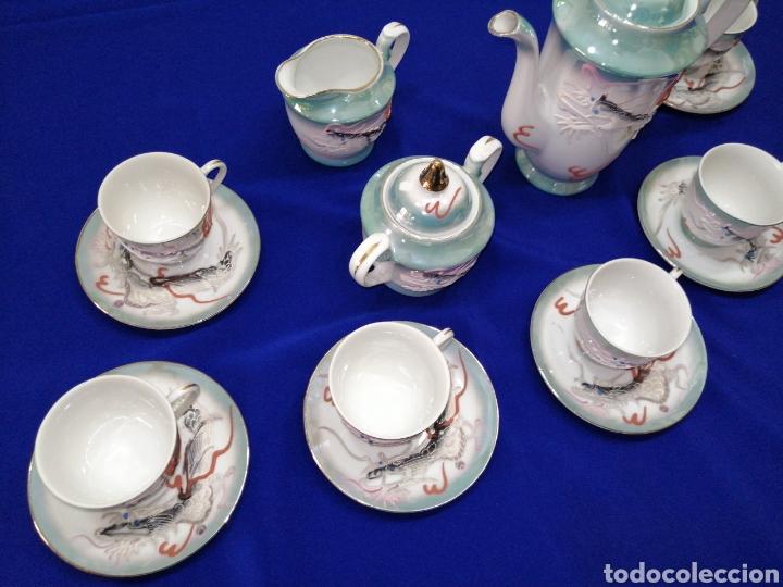 Antigüedades: JUEGO DE CAFE PORCELANA SATSUMA JAPON - Foto 3 - 245949110