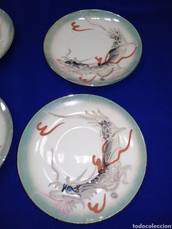 Antigüedades: JUEGO DE CAFE PORCELANA SATSUMA JAPON - Foto 7 - 245949110