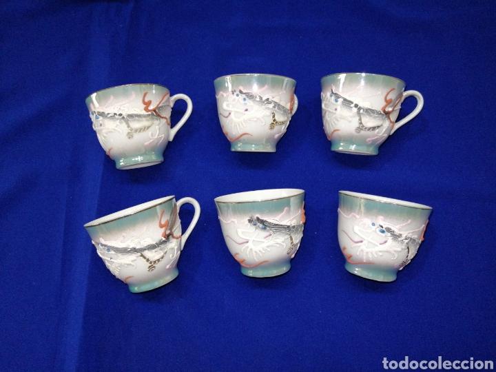 Antigüedades: JUEGO DE CAFE PORCELANA SATSUMA JAPON - Foto 9 - 245949110