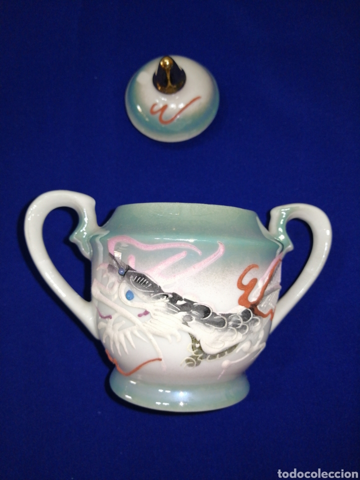 Antigüedades: JUEGO DE CAFE PORCELANA SATSUMA JAPON - Foto 14 - 245949110