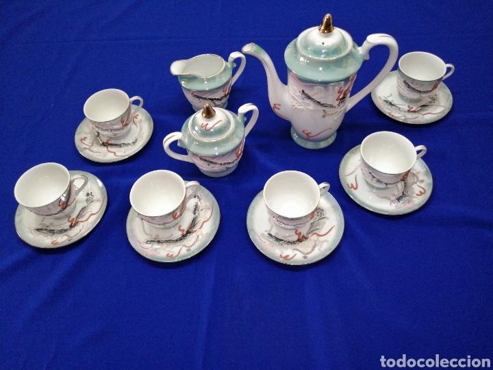 JUEGO DE CAFE PORCELANA SATSUMA JAPON (Antigüedades - Porcelana y Cerámica - Japón)