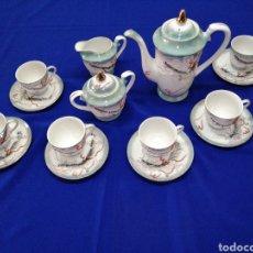 Antigüedades: JUEGO DE CAFE PORCELANA SATSUMA JAPON. Lote 245949110