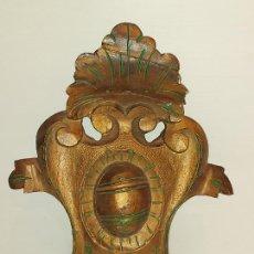 Antigüedades: ORNAMENTO EN MADERA TALLADA DE RETABLO O CORNUCOPIA / 28 X 23 CM.. Lote 245973835