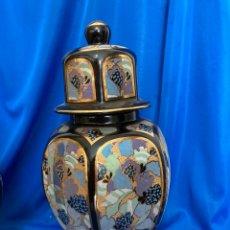 Antigüedades: TIBOR DE PORCELANA JAPONESA, DIBUJOS MARAVILLOSOS. Lote 245976360