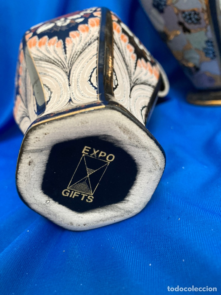 Antigüedades: Tibor de porcelana marca EXPO - GITS, sellado - Foto 5 - 245976910