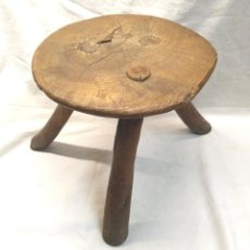 Antigüedades: BANQUETA ORDEÑO ARTE PASTORIL S XIX. MED. 24 X 24 CM. Lote 246007490