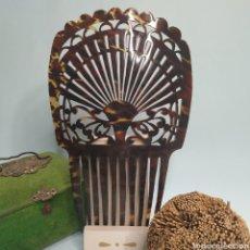 Antigüedades: ANTIGUA PEINETA DE CAREY. Lote 246052435