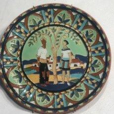 Antigüedades: PLATO ESMALTADO. SEGUNDA MITAD DEL S.XX. FIRMADO.. Lote 246055220