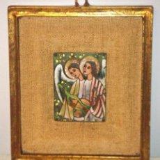 Antigüedades: ANTIGUO CUADRO CON ESMALTE DE ANGELES DE MODEST MORATÓ (1909-1993). Lote 246059145