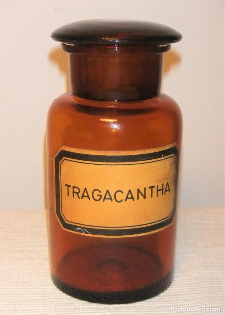 ANTIGUA BOTELLA, BOTE, FRASCO DE CRISTAL DE FARMACIA (Antigüedades - Cristal y Vidrio - Farmacia )