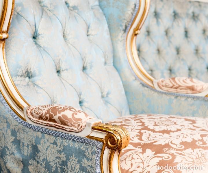 Antigüedades: Pareja De Sillones Antiguos Luis XV - Foto 4 - 246070620