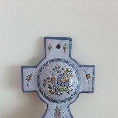 Antigüedades: BENDITERA CERÁMICA PUENTE ARZOBISPO. Lote 246101430