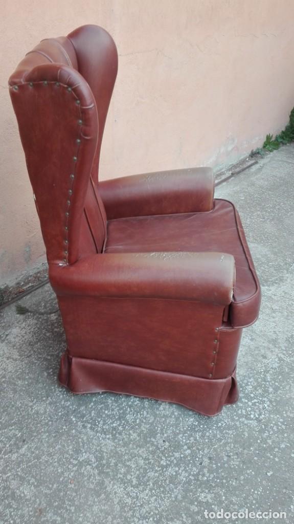 Antigüedades: Pareja de sillones de polipiel década de los 50 más o menos - Foto 5 - 246131815