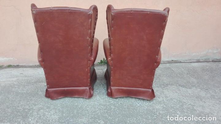 Antigüedades: Pareja de sillones de polipiel década de los 50 más o menos - Foto 6 - 246131815