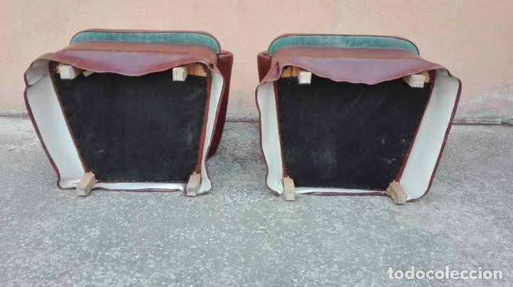 Antigüedades: Pareja de sillones de polipiel década de los 50 más o menos - Foto 7 - 246131815