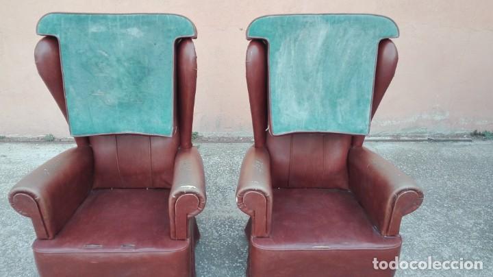 Antigüedades: Pareja de sillones de polipiel década de los 50 más o menos - Foto 8 - 246131815