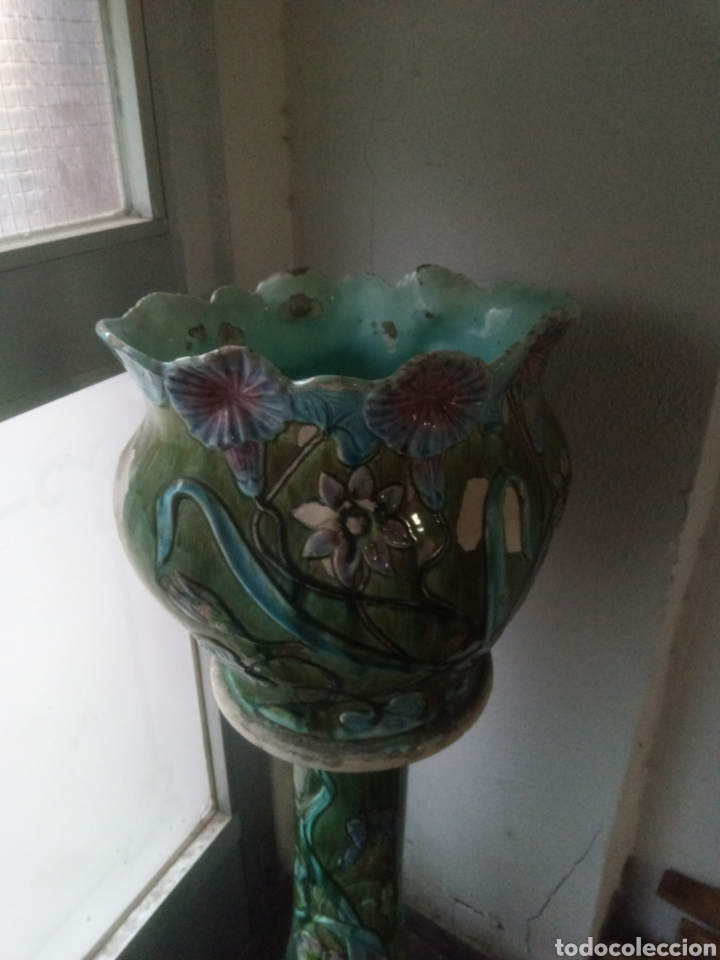Antigüedades: Bonito pedestal modernista - Foto 3 - 246187310
