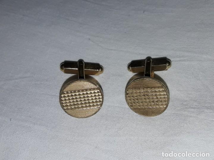 Antigüedades: Bellos antiguos gemelos dorados - Foto 2 - 246192060