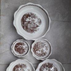 Antigüedades: CONJUNTO DE 5 RECIPIENTES DE LA CARTUJA DE PICKMAN. SIN USO. VER FOTOS. Lote 246204130