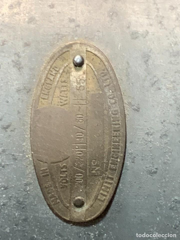 Antigüedades: GRAN VENTILADOR LIMIT ENGLAND METAL PPIO S XX 53 X 41 CMS - Foto 17 - 246274155