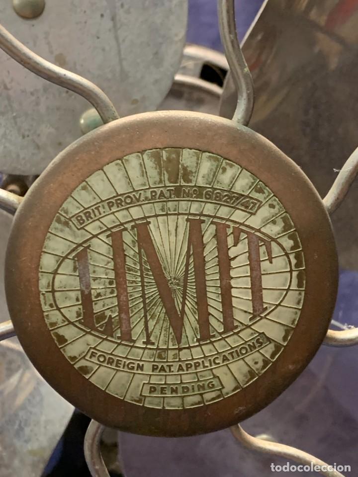 Antigüedades: GRAN VENTILADOR LIMIT ENGLAND METAL PPIO S XX 53 X 41 CMS - Foto 30 - 246274155