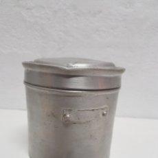 Antigüedades: TARRO DE ALUMINIO CON TAPA. Lote 246281155