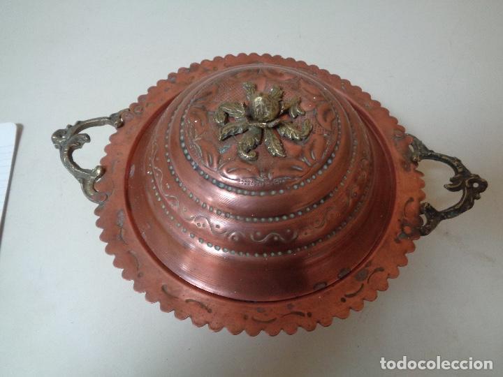 Antigüedades: sopera de cobre del siglo XIX - Foto 2 - 246303910