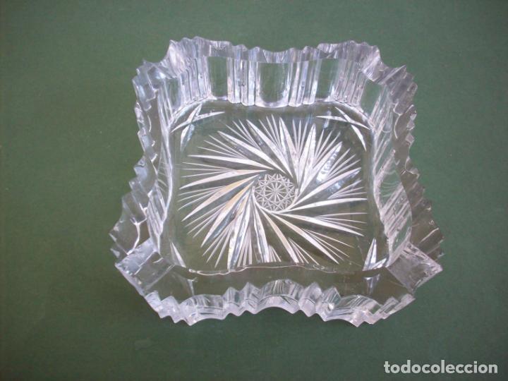 PRECIOSO CENICERO CRISTAL TALLADO BACCARAT . (Antigüedades - Cristal y Vidrio - Baccarat )
