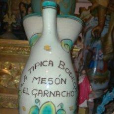 Antigüedades: ANTIGUA JARRA AGUAMANIL VINO EL PUENTE DEL ARZOBISPO S. SAN JOSE MESON EL GARNACHO 26 CM. Lote 246318980